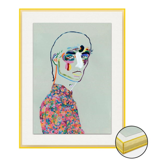 Dries van Noten SS20 by Robson Stannard in Light Yellow Acrylic Frame, XS Art Print For Sale