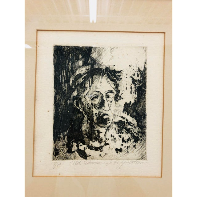 Early 20th Century Original Vintage Block Prints in Frame - A Pair For Sale - Image 5 of 9