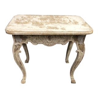 19th Century Baroque Painted Ivory Table For Sale