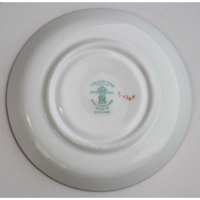 English Staffordshire Bone China Demitasse & Saucers - Set of 10 For Sale In New York - Image 6 of 6