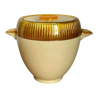 1950s Boho Chic Retro Gold Ice Bucket For Sale