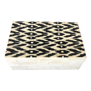 Vintage Tessellated Bone Box For Sale