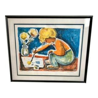 Original Rico Blass Pencil Colored Lithograph - 25/275 For Sale