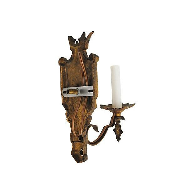 Crest Wall Sconces - Pair - Image 4 of 4