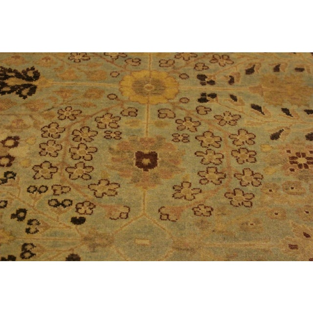Asian Istanbul Lakh Lt. Blue/Lt. Tan Turkish Hand-Knotted Rug -4'3 X 6'1 For Sale - Image 3 of 8