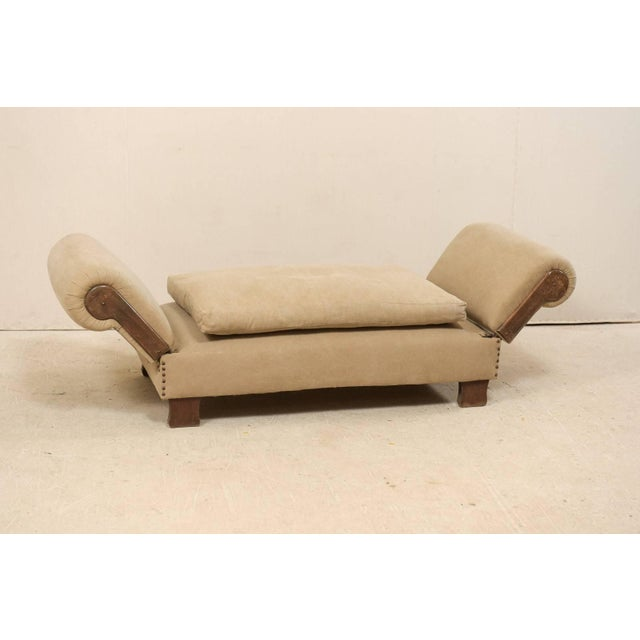 Metal French Lit De Jour 'Daybed' Circa 1920s-1930s With Nice Rounded Arms For Sale - Image 7 of 11
