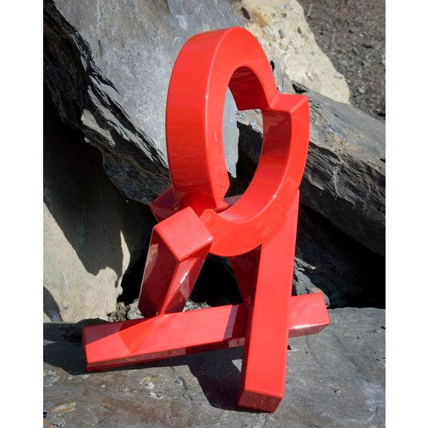 Abstract Rob Lorenson, Red Quadrilateral Sculpture, 2017 For Sale - Image 3 of 4