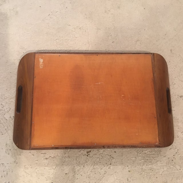 1940's Art Deco Real Butterfly Wing Inlay Tray Platter For Sale In New York - Image 6 of 8