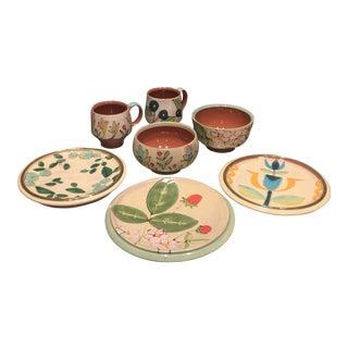 Ursula Hargens Contemporary Ceramic Dinnerware - Set of 7