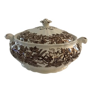 "Booths ""Vine & Wheat"" Covered Vegetable Serving Bowl For Sale"