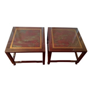 Drexel Heritage Ming Treasure Side Tables - a Pair