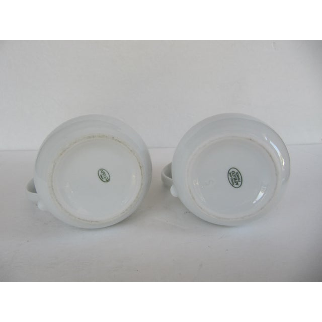 Vintage Apilco France Classic Whiteware Porcelain Pitcher/ Creamer- 2 Pieces For Sale - Image 4 of 5