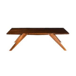 Modern Sculptural Walnut Coffee Table by Robert Berganza For Sale