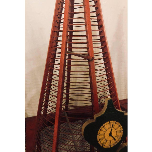 Americana Folk Art Circus Tent Style Original Painted Bird Cage For Sale - Image 10 of 13