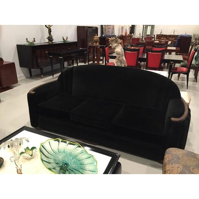 American Art Deco Sofa and Club Chair For Sale - Image 4 of 10