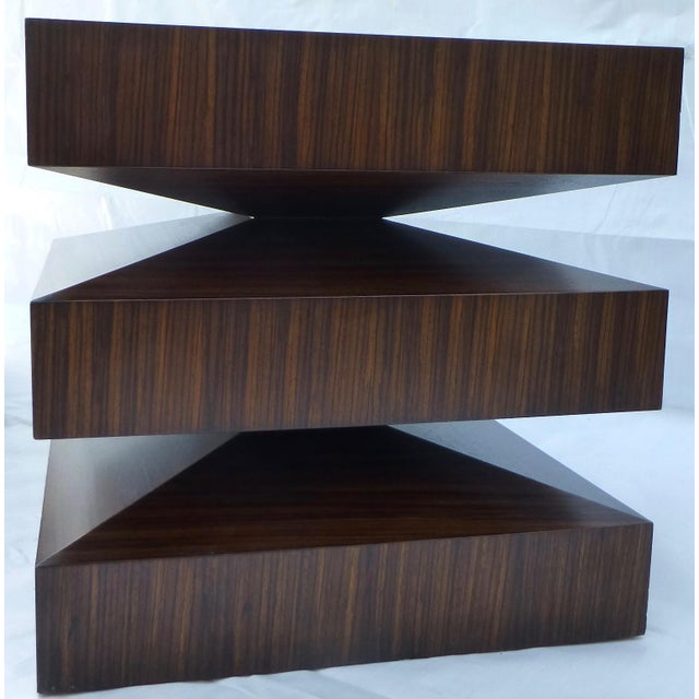 Danish Modern Cubist Stacked Rosewood End Tables- A Pair - Image 5 of 11