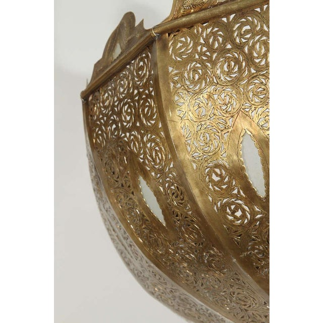 Large Brass Moroccan Chandelier For Sale In Los Angeles - Image 6 of 12