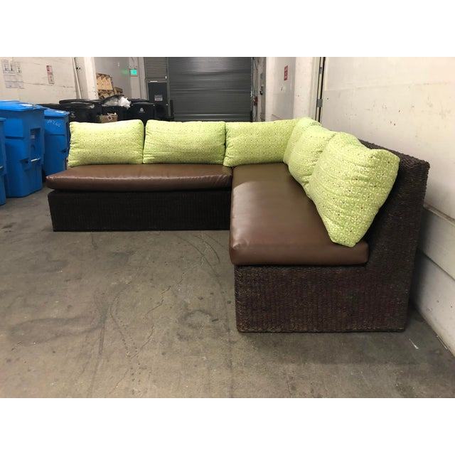 Two Piece Sectional From Walter's Wicker Works For Sale - Image 10 of 10