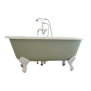 Double Ended Cast Iron Clawfoot Tub For Sale