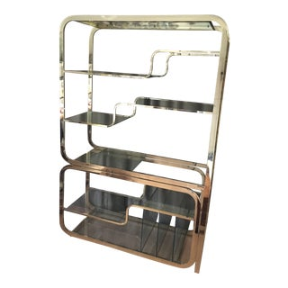 Mid Century Modern Brass Etagere For Sale
