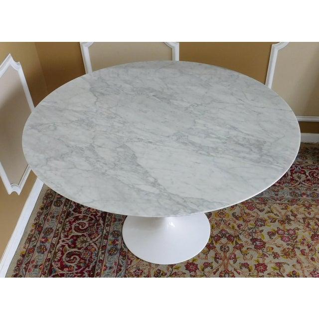 Room Board Eero Saarinen Collection Carrara Marble Top Tulip - 48 tulip table