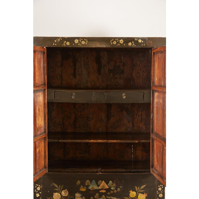 Lacquer Rare Pair of 18th Century Chinese Cabinets For Sale - Image 7 of 11