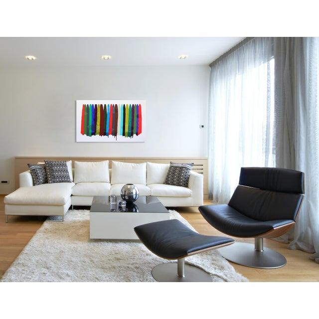 "Canvas ""Fils I Colors Cccxciii"" Original Artwork by Raul De La Torre For Sale - Image 7 of 9"