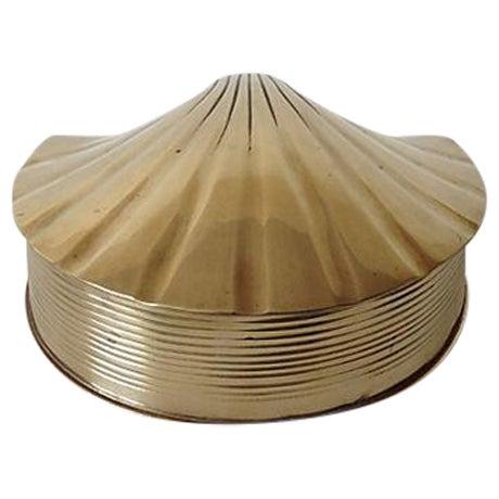 Brass Fanned Shell-Shaped Keepsake Box - Image 1 of 8