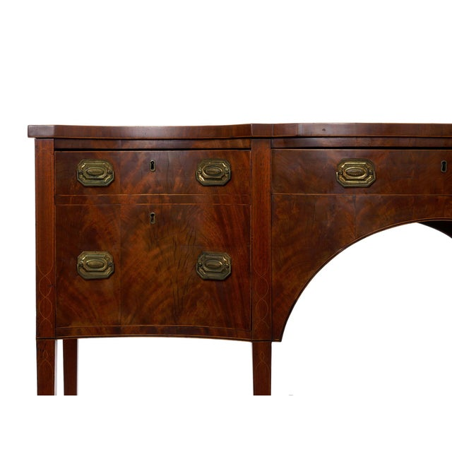 18th Century Circa 1780 English George III Period Antique Mahogany Sideboard For Sale - Image 5 of 11