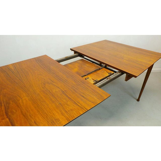 Mid-Century Modern Mid Century Modern Walnut & Rosewood Expanding Dining Table With Butterfly Leaf by Frank and Son For Sale - Image 3 of 8