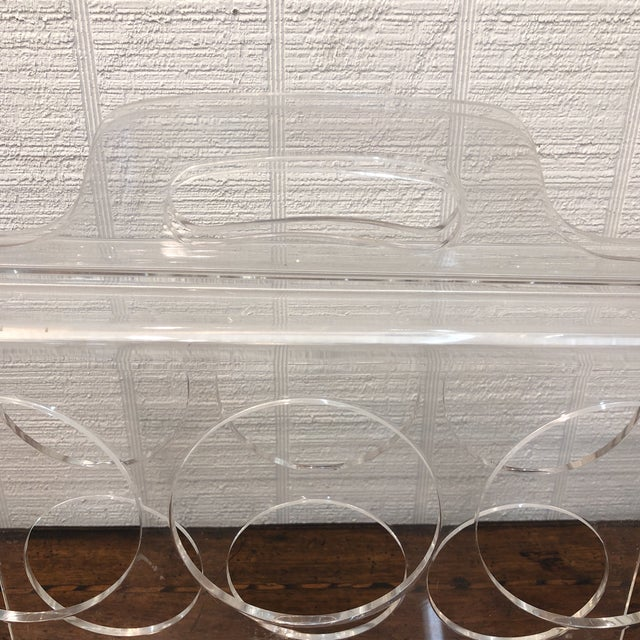 Contemporary Vintage Lucite Wine Carrier With Handle For Sale - Image 3 of 6