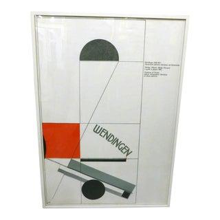 El Lissitzky, Italian Lithograph, Circa 1982 For Sale