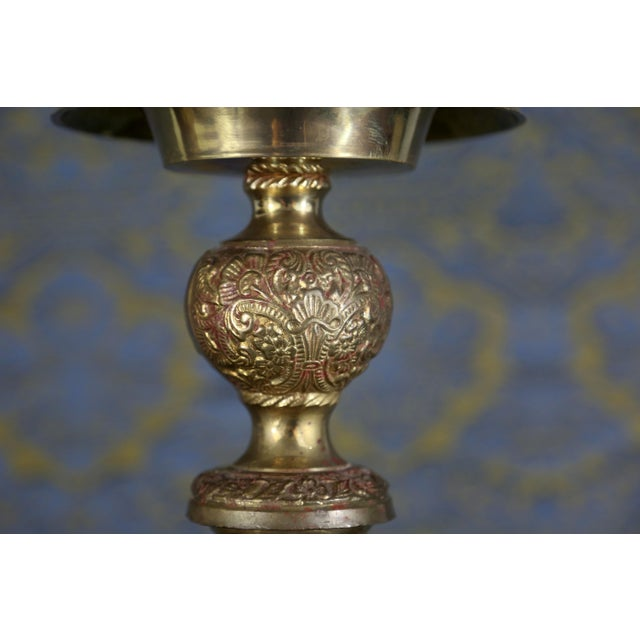 Vintage Brass Cherub Candlesticks - A Pair For Sale - Image 4 of 11
