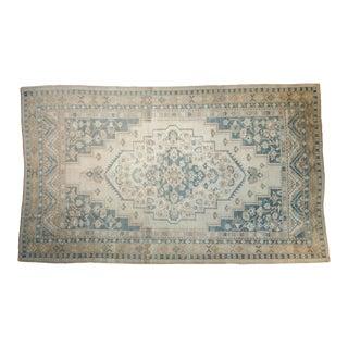 "Vintage Distressed Oushak Carpet - 6'3"" X 10'5"" For Sale"