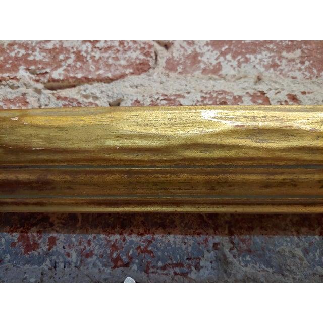 """Wood Art Nouveau 24x30"""" Gilt Wood Frame -C1900s For Sale - Image 7 of 11"""