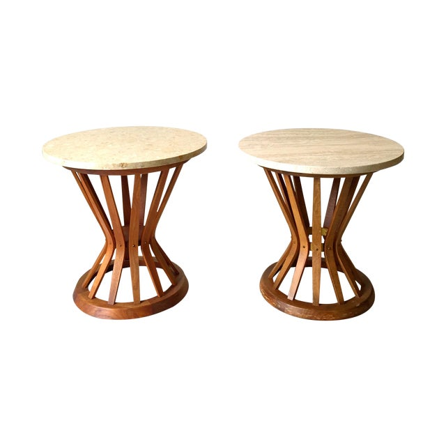 Edward Wormley for Dunbar Wheat Tables - Pair - Image 1 of 6