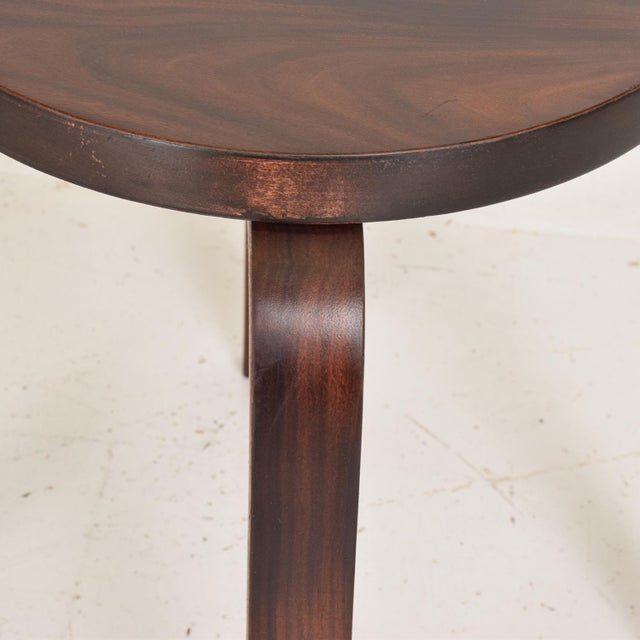 Mid Century Danish Modern, Rare Rosewood Stool by Alvar Aalto for Artek For Sale In San Diego - Image 6 of 7