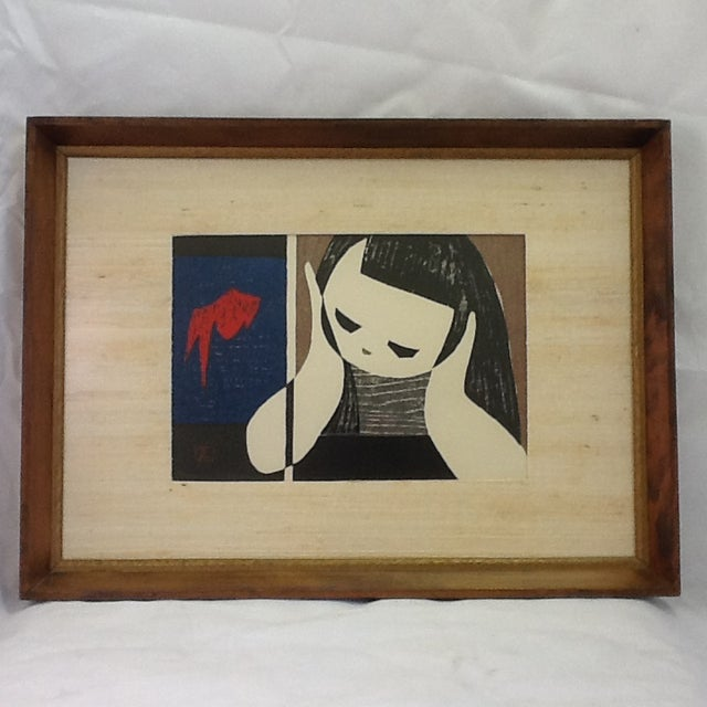 Vintage Kaoru Kawano Block Print - Image 2 of 8