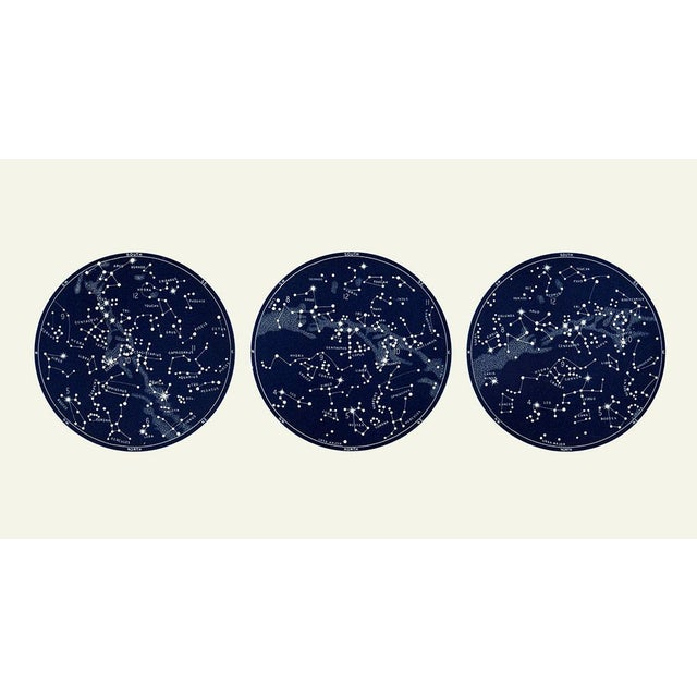"""""""Capricorn Press"""" Celestial Print With 3 Constellation Maps For Sale - Image 4 of 7"""