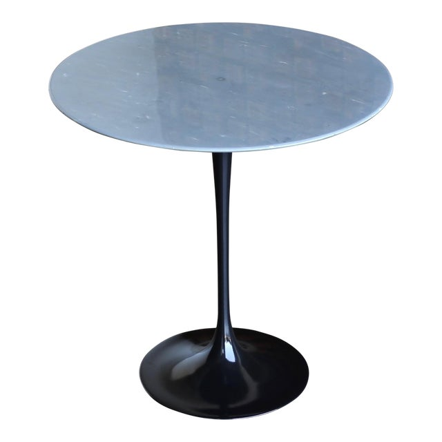 Eero Saarinen Gray Marble Occasional Table for Knoll Circa 1980 For Sale