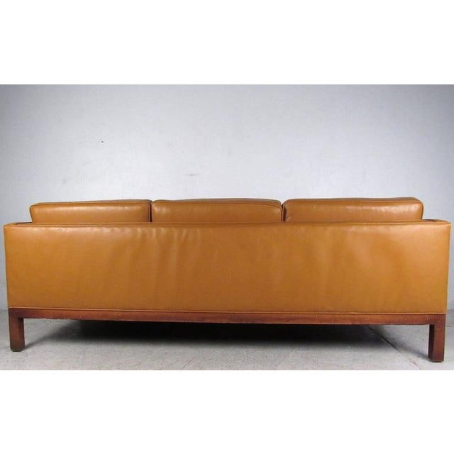 Mid-Century Modern Scandinavian Modern Leather Sofa After Børge Mogensen For Sale - Image 3 of 8