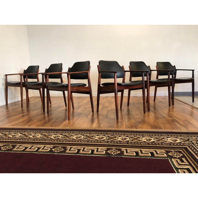 Rosewood Chairs by Arne Vodder for Sibast Furniture, Made in Denmark, Set of 6 For Sale - Image 13 of 13