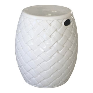 Wicker Design Ceramic Garden Seat For Sale