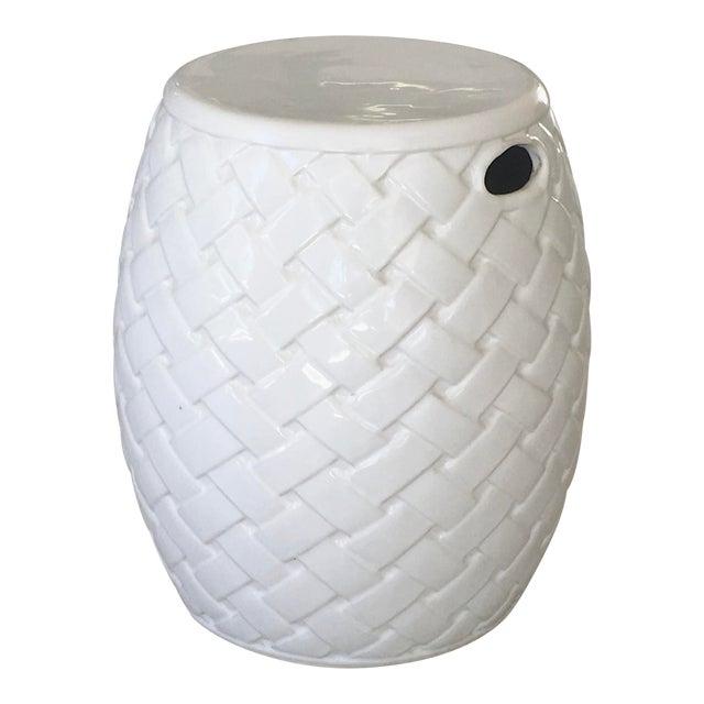 Wicker Design Ceramic Garden Seat For Sale
