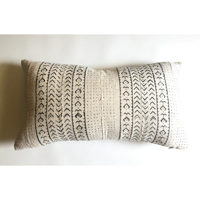 White & Black Mudcloth Pillow Cover - Image 9 of 9