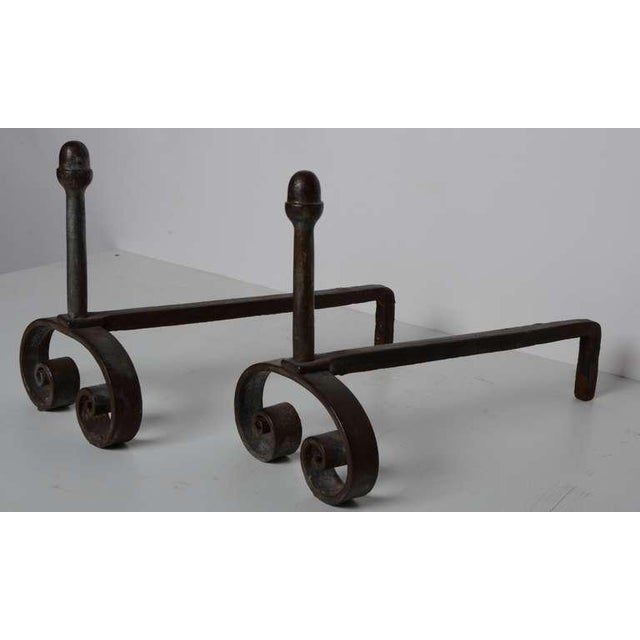 Mid 19th Century 19th C. Small French Andirons For Sale - Image 5 of 6
