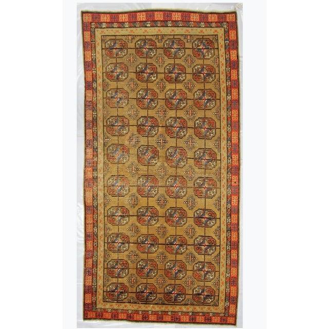 1930s Vintage Turkistan Samarkand Rug - 5′ × 10′ For Sale - Image 5 of 5