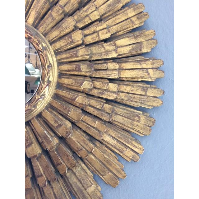 Large Italian Giltwood Sunburst Mirror - Image 5 of 5