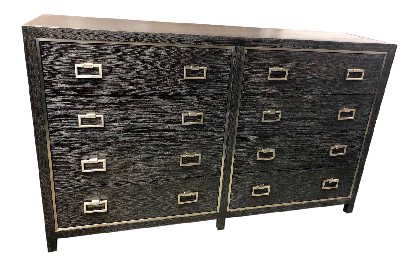 Traditional 8 Drawer Lowboy Dresser For Sale