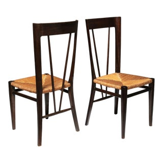 Pair of Chairs by Guglielmo Pecorini for Casa E Giardino For Sale